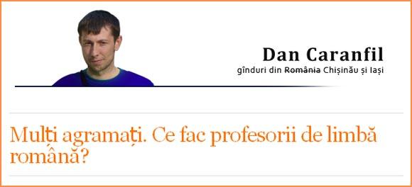 Limba română şi Dan Caranfil